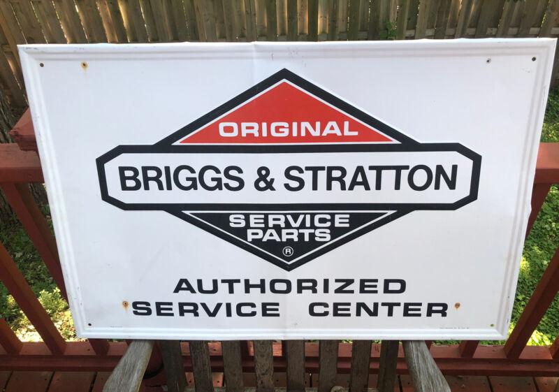 Briggs & Stratton Authorized Service Center Original Parts Dealer Metal Sign