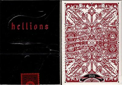 Hellions Red Playing Cards Poker Size Deck Cartamundi ellusionist Custom Limited