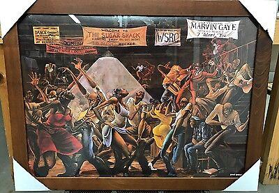 """New Framed """"Sugar Shack"""" Ernie Barnes Goodtimes Art Poster Print"""