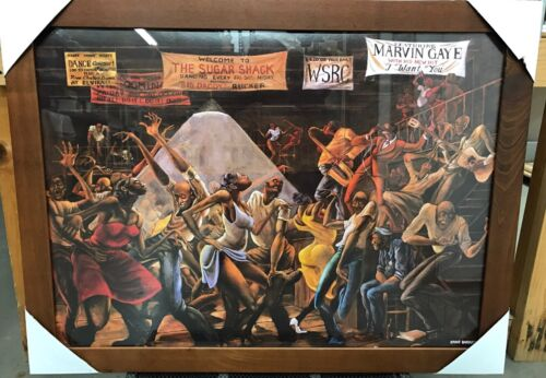 Купить New Framed Sugar Shack Ernie Barnes Goodtimes Art Poster Print