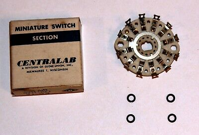 Centralab Pa-14 Miniature Ceramic Switch 2 Pole 5 Position Solid Silver