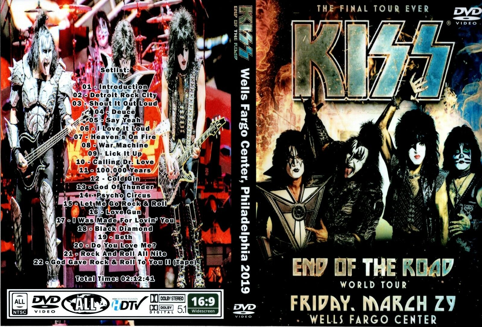 Kiss - End Of The Road - Philadephia DVD