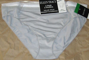New-Ellen-Tracy-2-Pair-Hi-Cut-Briefs-or-Bikini-Panties