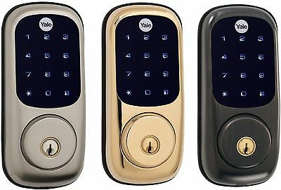Yale Yrd220 Nr Real Living Electronic Touch Screen Deadbolt Lock  Standalone