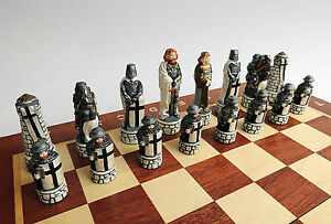 BRAND NEW HANDCRAFTED BATTLE OF GRUNWALD MARBLE CHESS SET 40cm