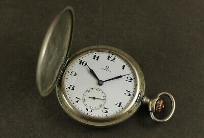 Antique OMEGA Railroad Hunter Case 49mm Pocket Watch. Ca 1922