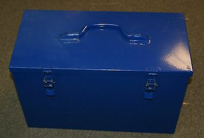 Portable Tool Box Metal Storage Bin Steel Chest Garage Mechanic Organizer