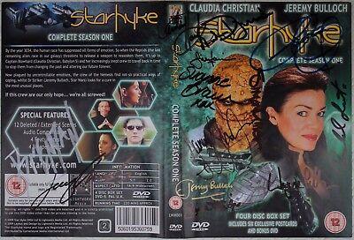 STARHYKE DVD - SIGNED BY CLAUDIA CHRISTIAN, JEREMY BULLOCH, DANNY JOHN-JULES +