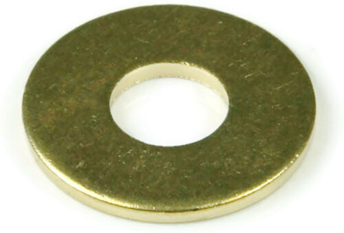 Flat Washers DZR Brass Standard Round Washers - Sizes #2 - 1-1/2""