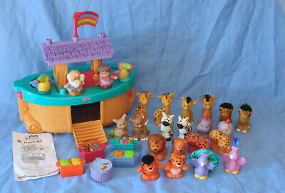 2002 Fisher Price Little People Noah's Ark w/ Animals Touch & Feel Lot of 30