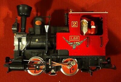 LGB 20540US G Scale Christmas Santa Train Steam Loco Passenger Set/Box
