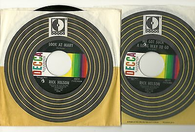 RICK NELSON, LOOK AT MARY b/w WE GOT SUCH A LONG WAY TO GO, ORIGINAL 45 rpm, (We Got A Long Way To Go)