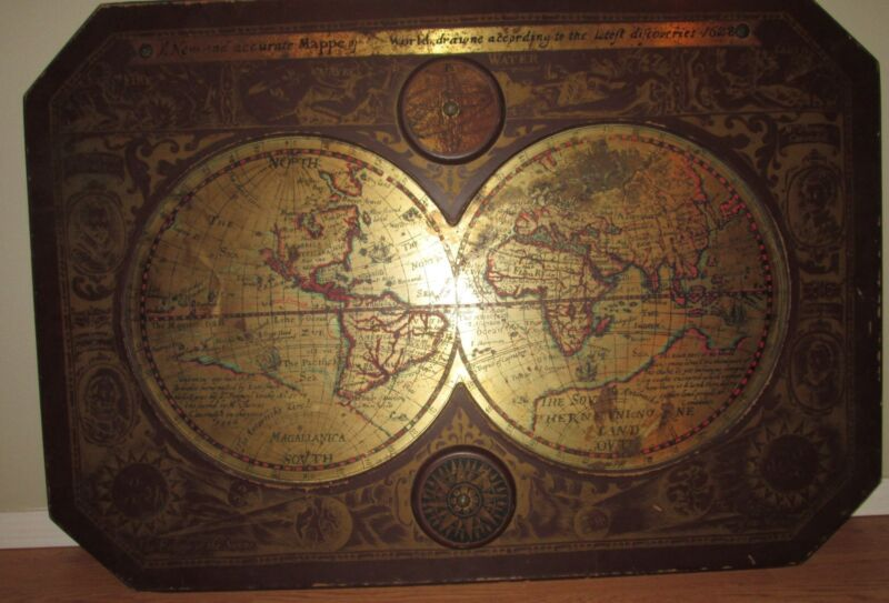 1964 MASKETEERS OLD WORLD MAP, 1600