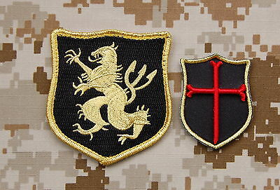 NSWDG Navy SEAL Team 6 Lion Gold Squadron & Mini Crusader DEVGRU Patch Set ST6