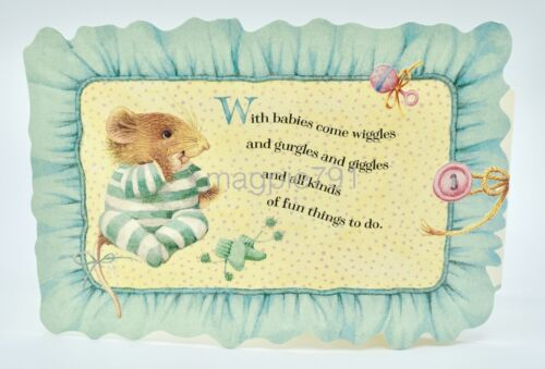 NEW Marjolein Bastin Vera the Mouse Sweetest Dreams New Baby Card