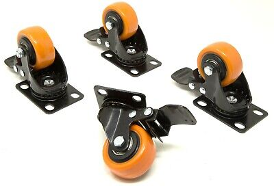 Wen Ca1162b 2-inch 155-pound Capacity Swivel Plate Caster With Brake 4-pack