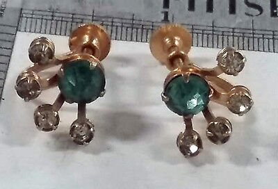 RARE 50s BUGBE NILES SATELLITE SPACE AGE RHINESTONE EARRINGS RETRO MID CENTURY - Space Age Costume