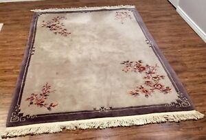 ** Silk Rug, great condition, very warm-up 6'x9' **