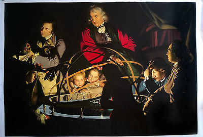 Ölbilder Ölgemälde Gemälde  The Orrery  von Joseph Wright of Derby 60 x 90cm.
