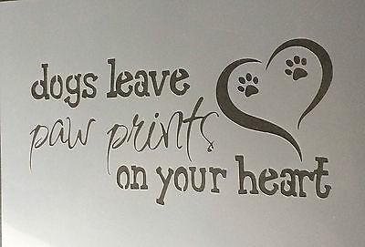 Dog Leave Mylar Reusable Stencil Airbrush Painting Art Craft DIY
