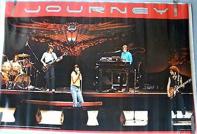 RARE JOURNEY LIVE STAGE 1981 VINTAGE ORIGINAL MUSIC POSTER