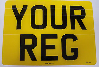 SQUARE TRAILER PLATE  4 x 4 NUMBER PLATE 11 x 8  279mm x 203mm