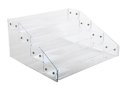 Acrylic Display - 3 Or 4 Tiers Counter Top Tray Display  Knockdown Bin Stand
