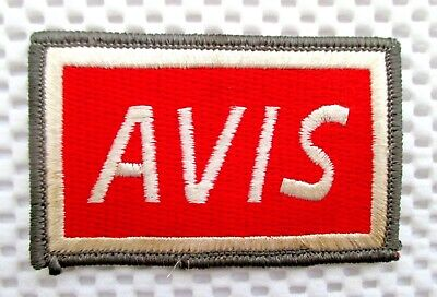 Avis Car Rental Embroidered Sew Or Iron On Patch Advertising Uniform 3  X 2