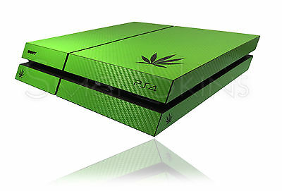 Textured Carbon Cannabis Rasta Skin For PLAYSTATION 4 PS4  Wrap Decal Cover