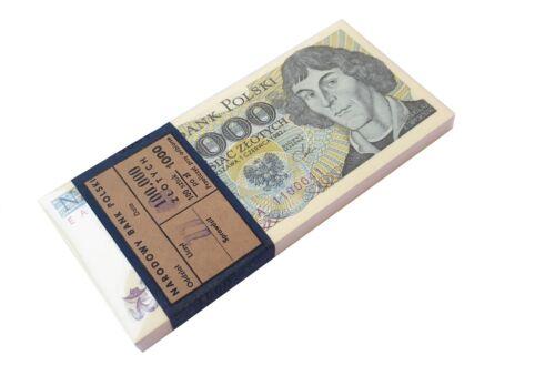 POLAND 1000 1,000 ZLOTYCH 1982 P 146 UNC COPERNICUS BUNDLE of (20 NOTES) 20 PCS