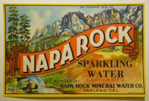 ca.1910  Napa Rock Sparkling Water (Oakland, California) bottle label