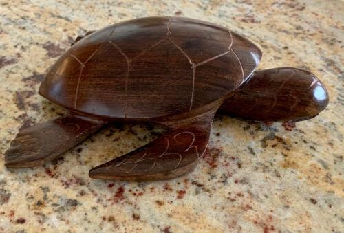 Sea Turtle Hand Carved Ironwood Figurine