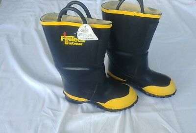 Firetech Lacrosse Firefighter Turnout Gear Boots Size 7 Medium Mens Ppe