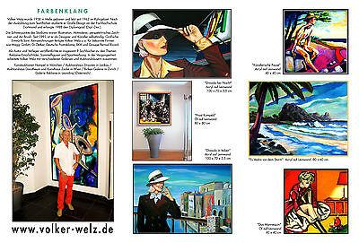 Volker Welz Kunstausstellung Flyer Saalbau Essen Restaurant Nelson Müller Koch