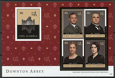 Gambia 2014 MNH Downton Abbey Earl Grantham 4v M/S I TV Series Stamps