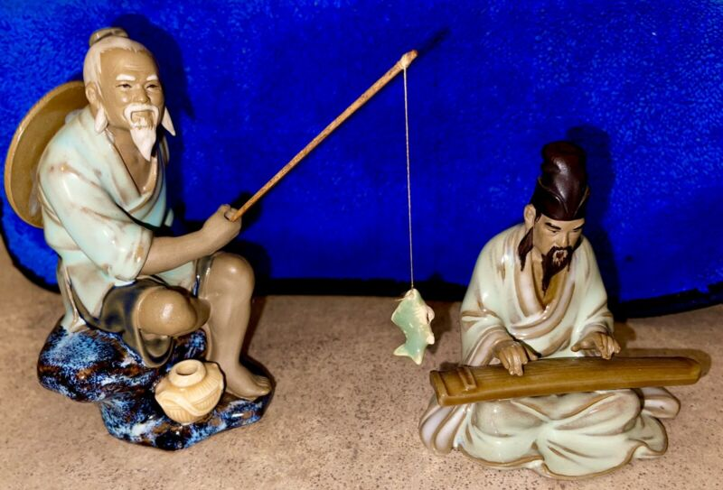 Chinese Mudman Vintage Figurines Set