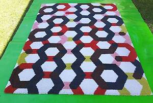 Colourful Geometic Floor Rug - Cleaned Richmond Yarra Area Preview