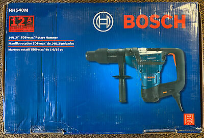 New Bosch Rh540m 1-916in. Sds Max Combination Rotary Hammer Drill 12 Amp Corded