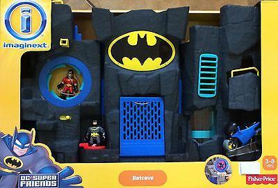 NIB Fisher-Price Imaginext Batman DC Super Friends Batcave - Black