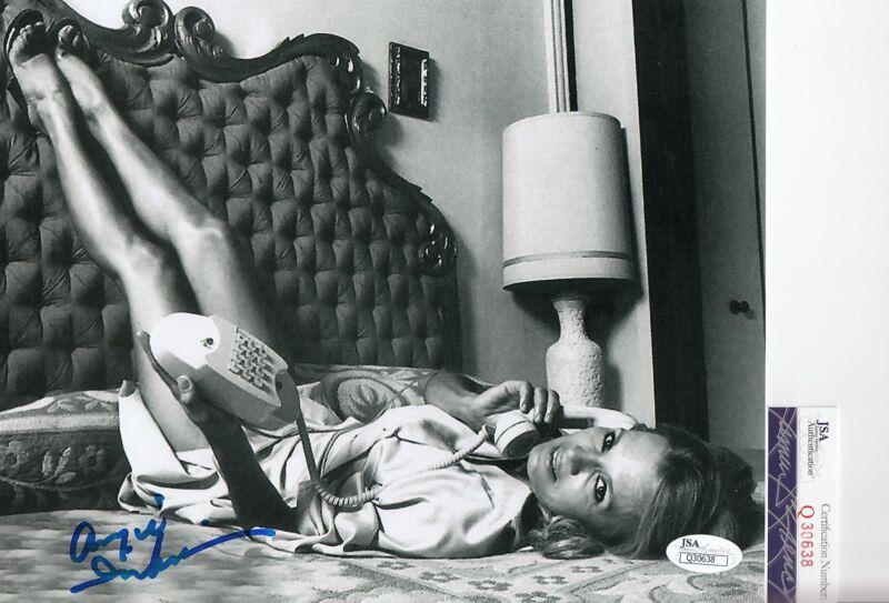 Angie Dickinson signed *Police Woman* Sexy movie 8x10 photo JSA COA Q30638