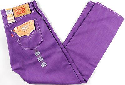 Levi's Original 501 Shrink to Fit Jeans- NEW- Purple classic Levis STF RAW (Classic Raw Denim)