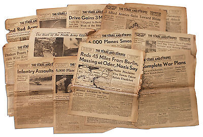 Wwii 22 Stars And Stripes Newspapers Liege Early 1945