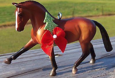 Custom Breyer Stablemate Hanoverian Warmblood Dressage Horse Christmas Ornament