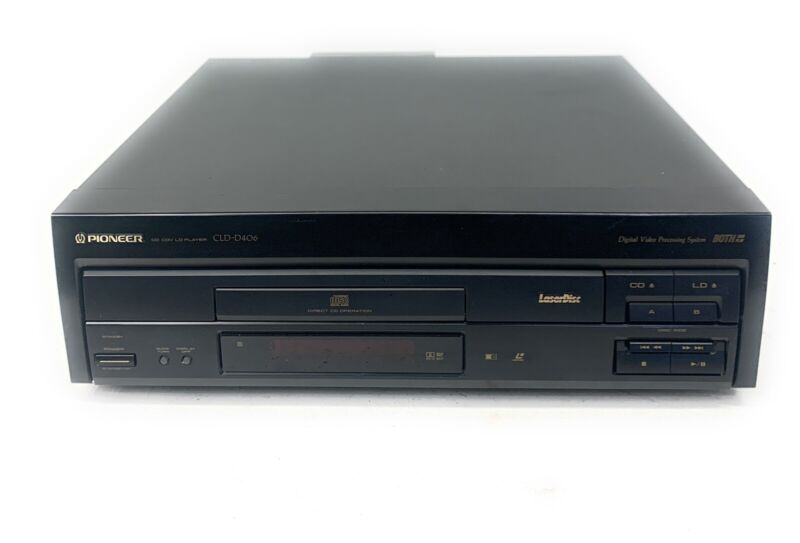 Pioneer CLD-D406 LaserDisc / CD Player - AC3 - Both Side Play - Tested
