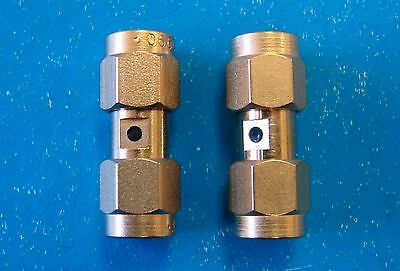 SMA (m) to SMA (m) Connector Adapter Male Plug Barrel, Qty.2