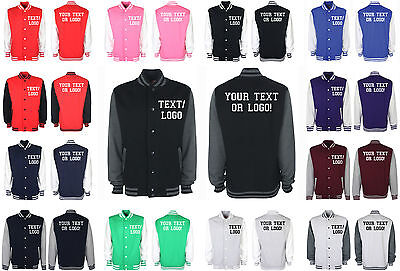 Custom Personalised Varsity Baseball College Letterman Jacket Unisex Mens/Womens - Letterman Jacket Customize