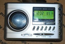 Sharper Image TRAVEL SOOTHER 20 Radio Alarm Clock White Noise - Si721 Silver