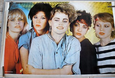 RARE THE GO GO'S 1982 VINTAGE ORIGINAL MUSIC POSTER