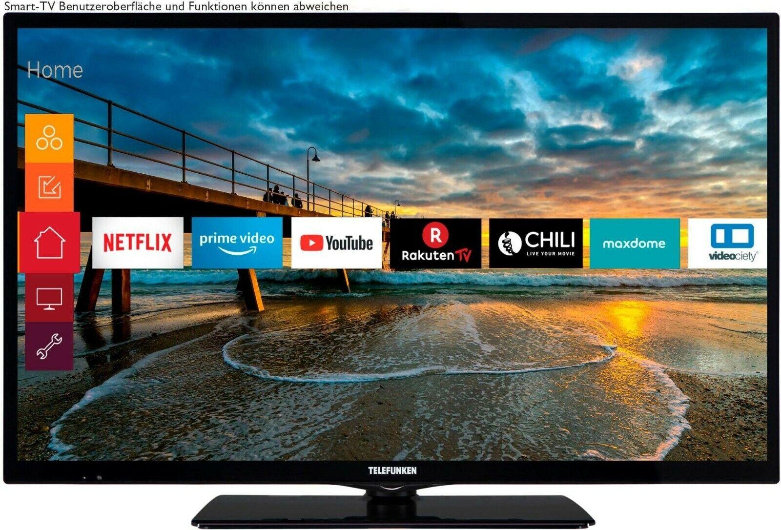 Telefunken LED-Fernseher 80 cm/32 Zoll, Full HD, Smart-TV,Triple Tuner,Wlan