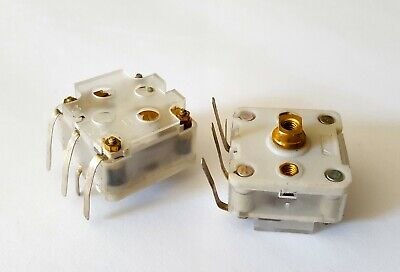 2 Pcs Cbm-223f 2-section 223f Variable Tuning Capacitors For Fm Radio- Usa Ship